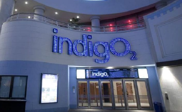 Establishing shot of indigo at The O2
